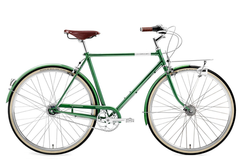 Rower Creme Caferacer Man Doppio Forest Green 7s dynamo 28""