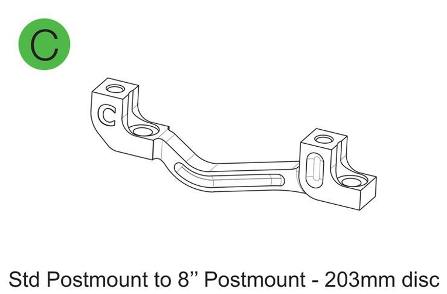 Adapter hamulca Hope Typ C (Postmount 203mm) (HBMCN)